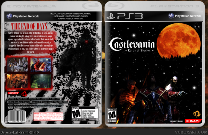Castlevania : Lords of Shadow box art cover
