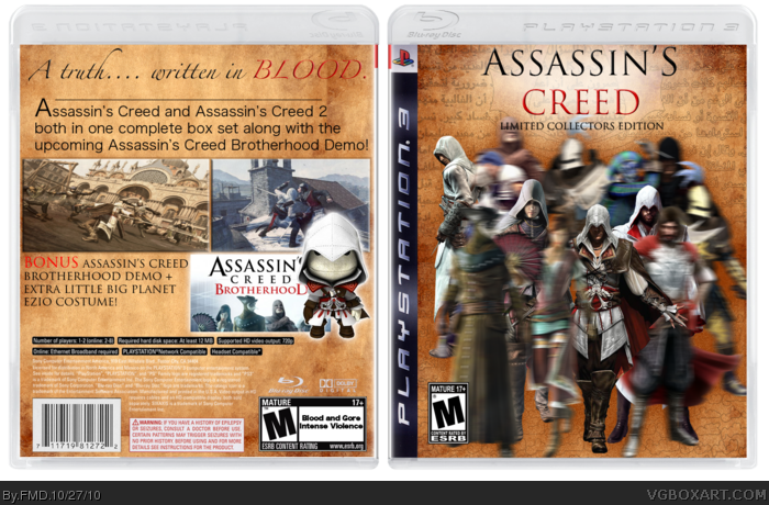 Assassin's Creed: Limited Collectors Edition box art cover