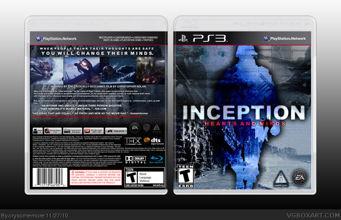 Inception: Hearts and Minds box art cover
