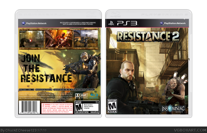 Resistance 2 box art cover