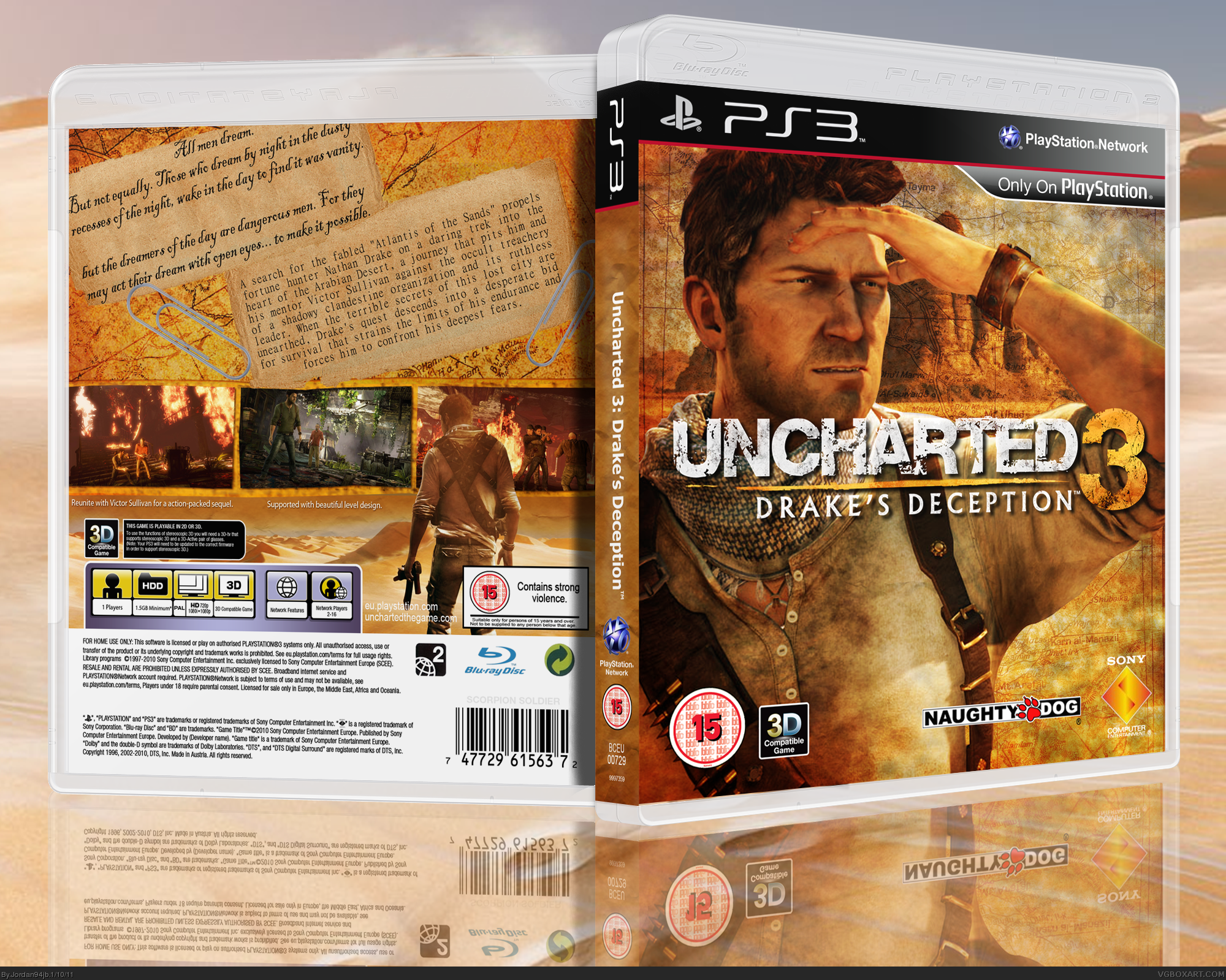 Viewing Full Size Uncharted 3 Drake S Deception Box Cover