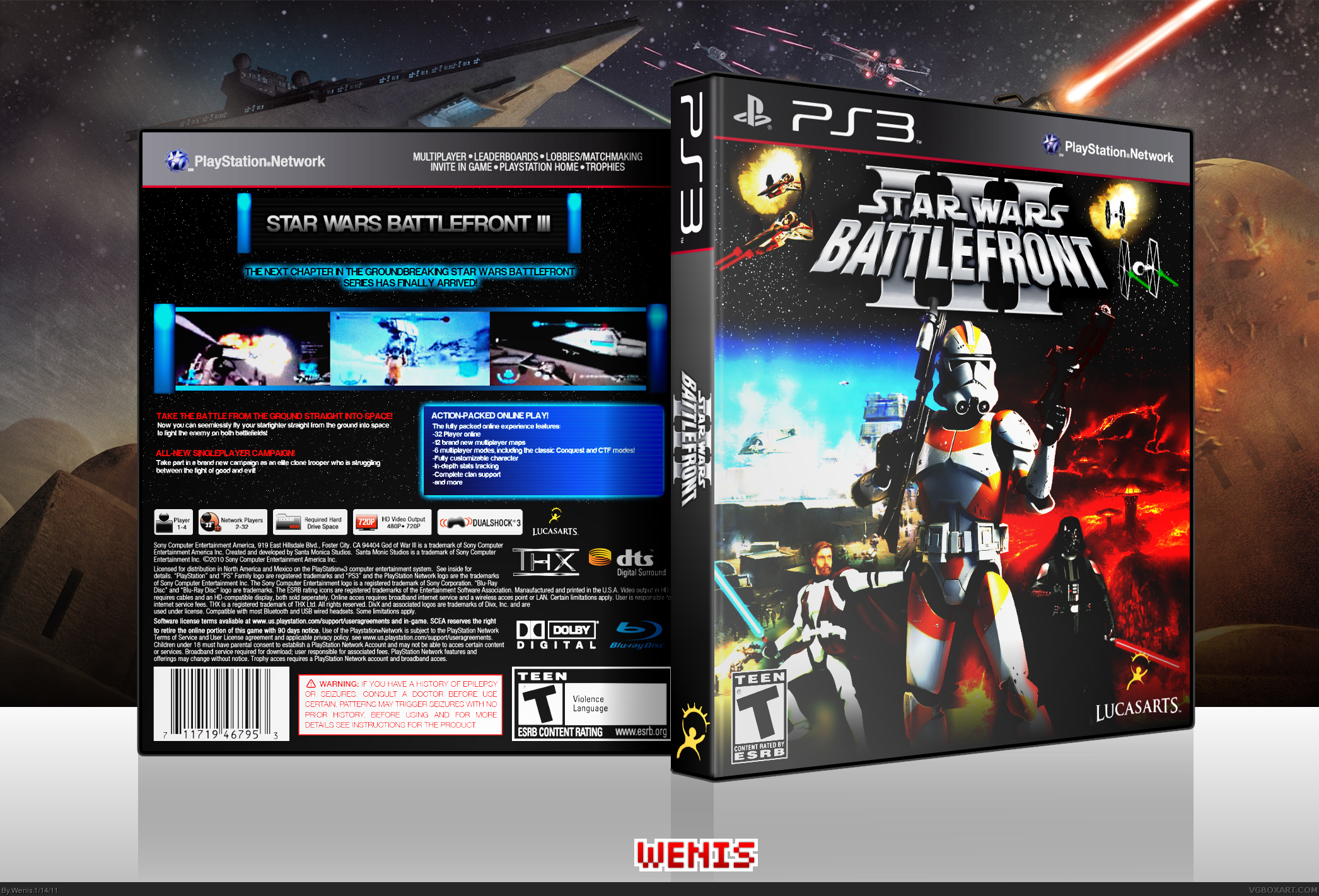 Viewing full size star wars battlefront iii box cover by wenis back