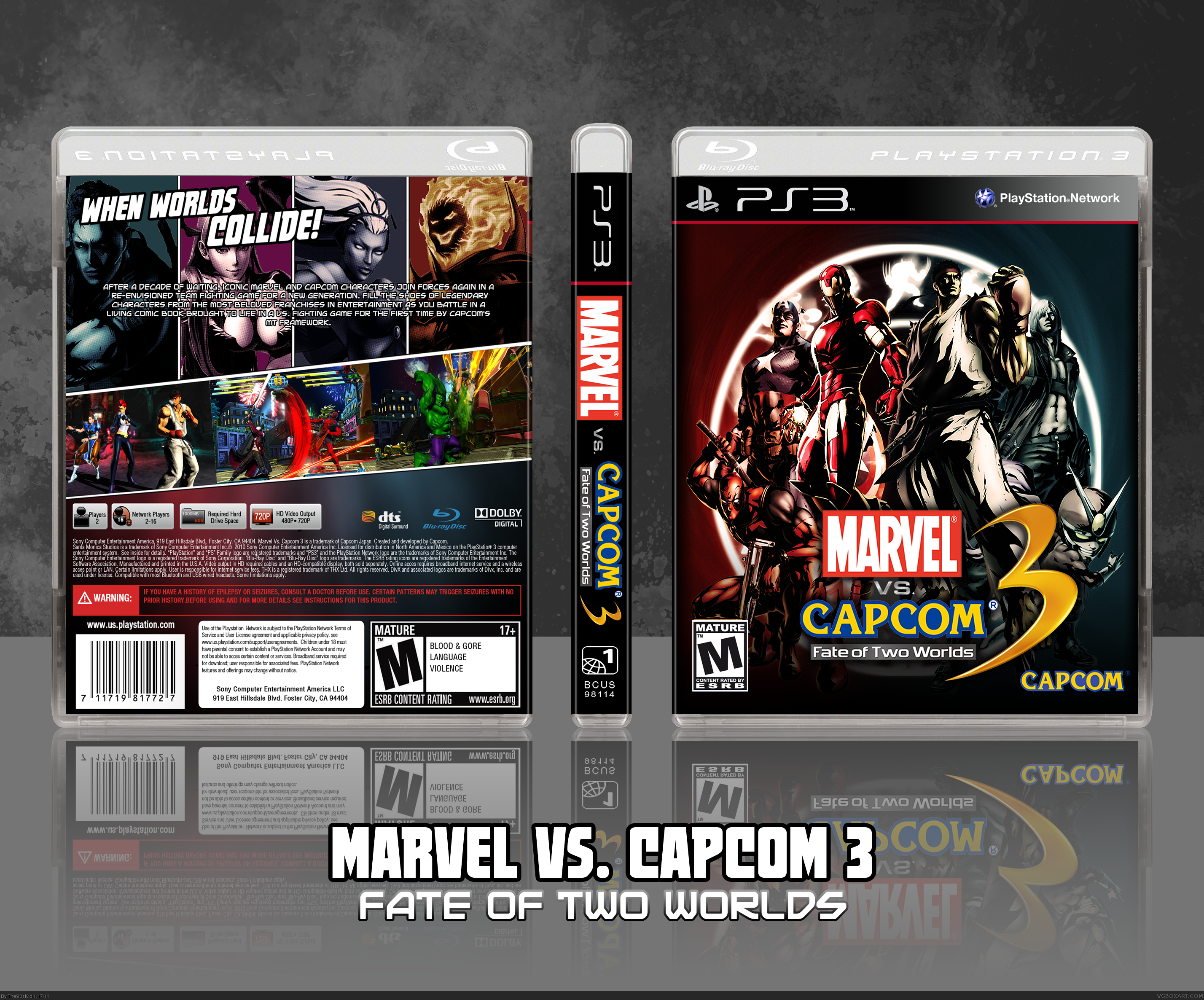 Marvel Vs. Capcom 3: Fate of Two Worlds box cover