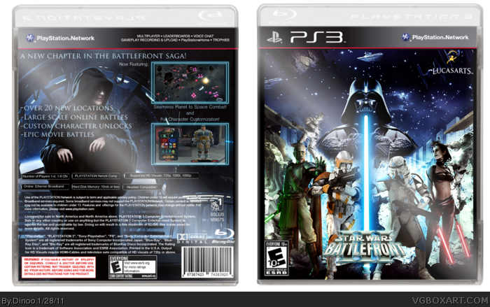 Star Wars Battlefront Iii Playstation 3 Box Art Cover By