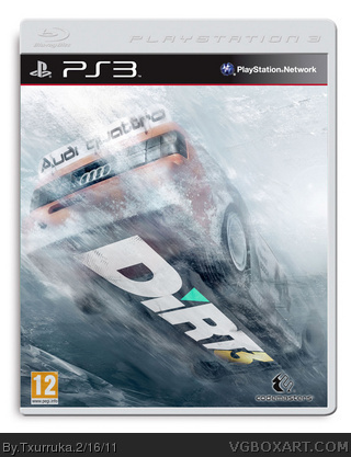 dirt 3 playstation 3 box art cover by txurruka. Black Bedroom Furniture Sets. Home Design Ideas