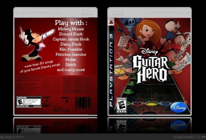 Disney Guitar Hero box art cover