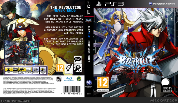 BlazBlue: Continuum Shift box art cover