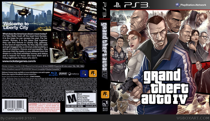 Gta 6 Cover: Grand Theft Auto IV PlayStation 3 Box Art Cover By Cartman98