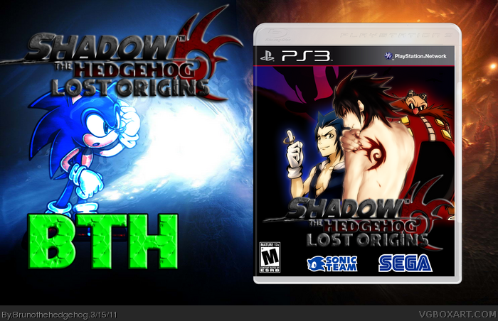 PlayStation 3 » Shadow The Hedgehog Anime Box Cover