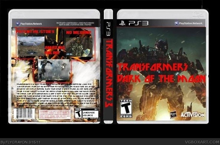 TRANSFORMERS dark of the moon box art cover