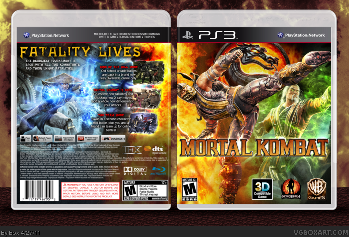 Mortal Kombat Box Cover Comments