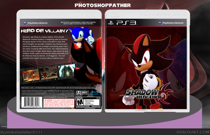 PlayStation 3 » Shadow the Hedgehog Box Cover