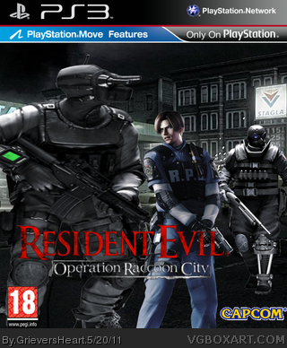Resident Evil : Operation Raccoon City PS3 box art cover