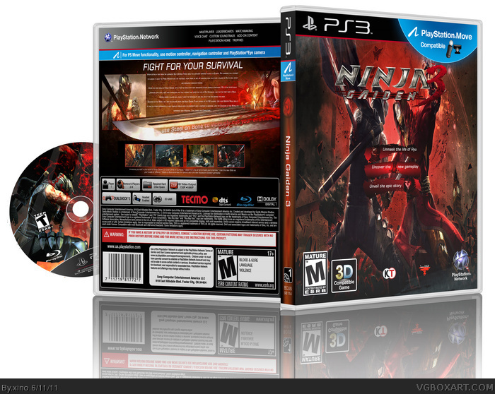 Ninja Gaiden 3 Playstation 3 Box Art Cover By Xino