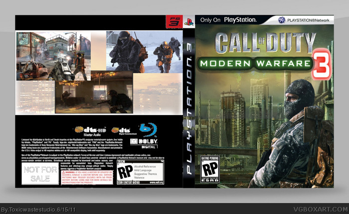 Call Of Duty Modern Warfare 3 Playstation 3 Box Art Cover By