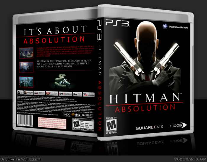 Hitman Absolution Fuse Box : Hitman absolution playstation box art cover by strike