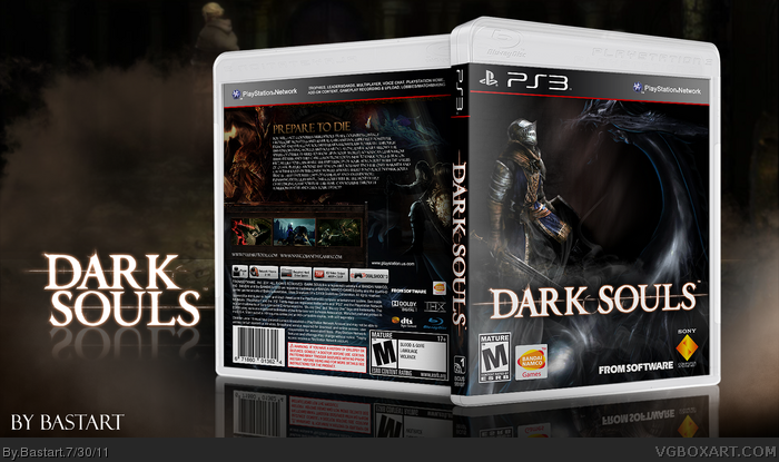 dark souls playstation 3 box art cover by bastart