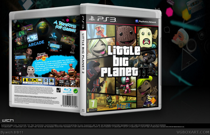 PlayStation 3 » Little Big Planet 2 Box Cover