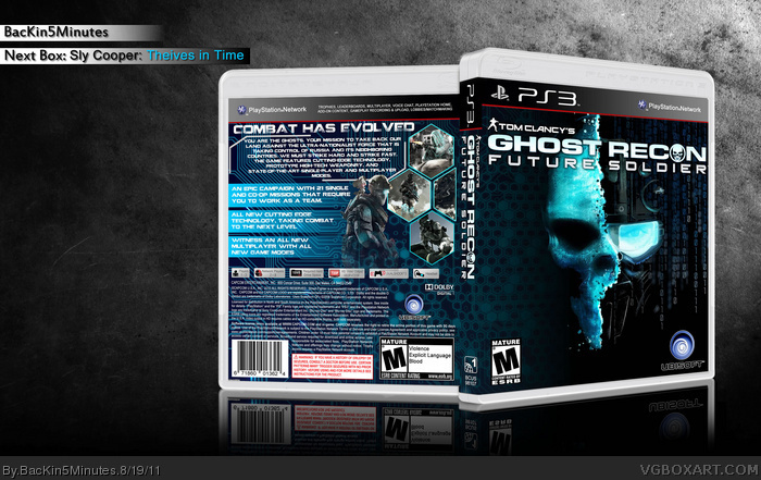 Room Cover Ghost Recon Ghost Recon Future Soldier Wii: Tom Clancy's Ghost Recon: Future Soldier PlayStation 3 Box