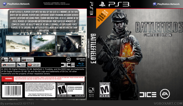 Battlefield 3 Limited Edition box art cover