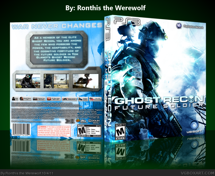 Room Cover Ghost Recon Ghost Recon Future Soldier Wii: Ghost Recon: Future Soldier PlayStation 3 Box Art Cover By