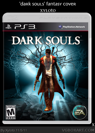 dark souls playstation 3 box art cover by xyloto