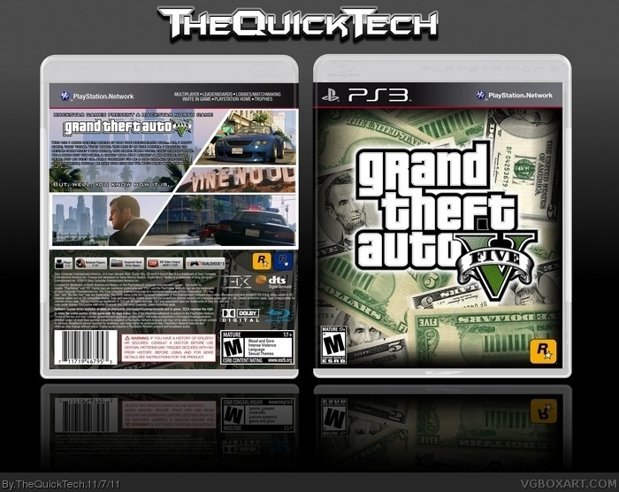 PlayStation 3 » Grand Theft Auto V Box Cover