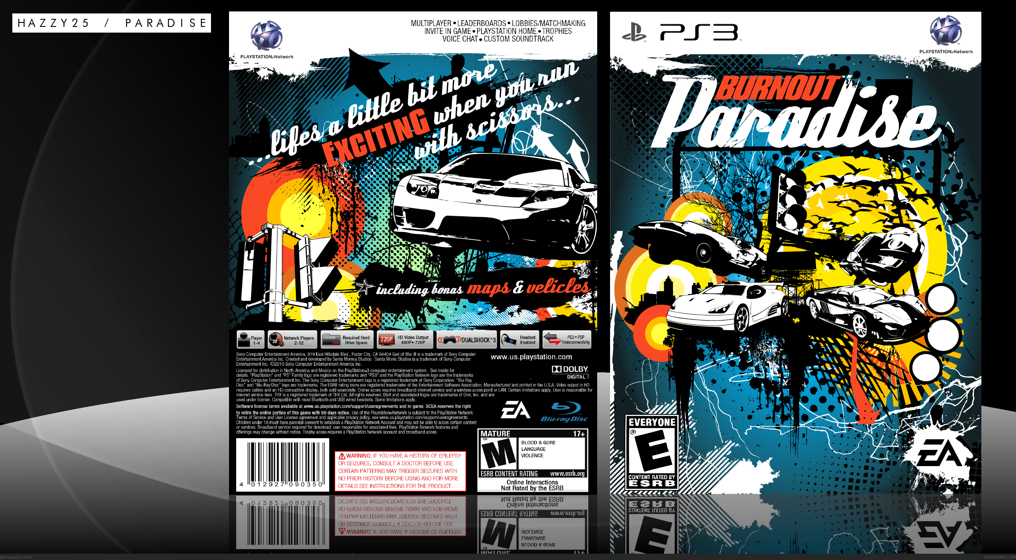 burnout paradise playstation 3 box art cover by hazzy25. Black Bedroom Furniture Sets. Home Design Ideas