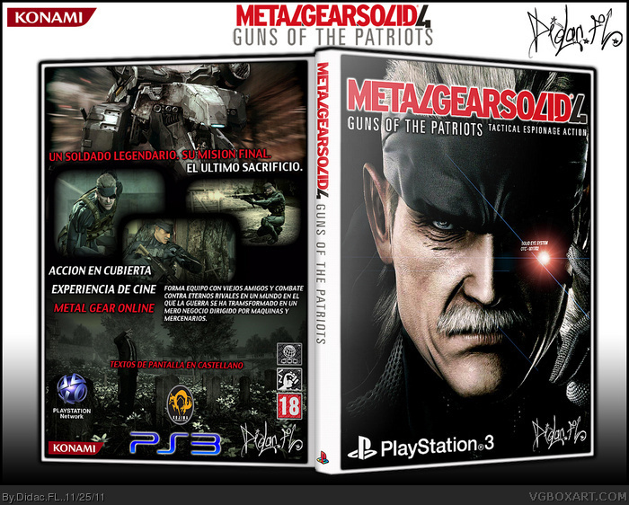 Metal Gear 4: Guns of the Patriots  (Spanish) box art cover