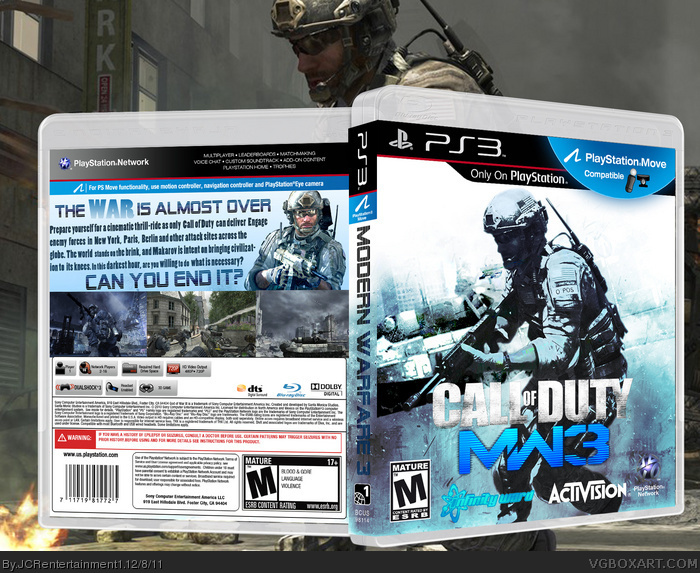 Call Of Duty Modern Warfare 3 Playstation 3 Box Art Cover By