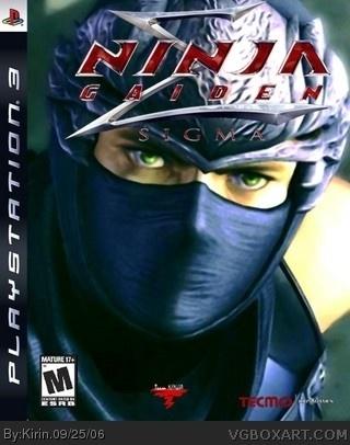 Ninja Gaiden Sigma Playstation 3 Box Art Cover By Kirin