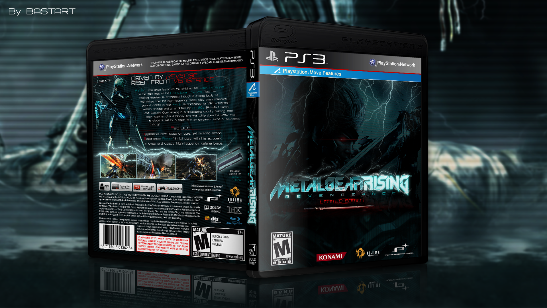 PlayStation 3   187  Metal Gear Rising  Revengeance  Limited Edition  Box    Metal Gear Rising Revengeance Cover Ps3