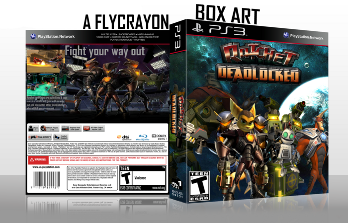 Ratchet Deadlocked box art cover