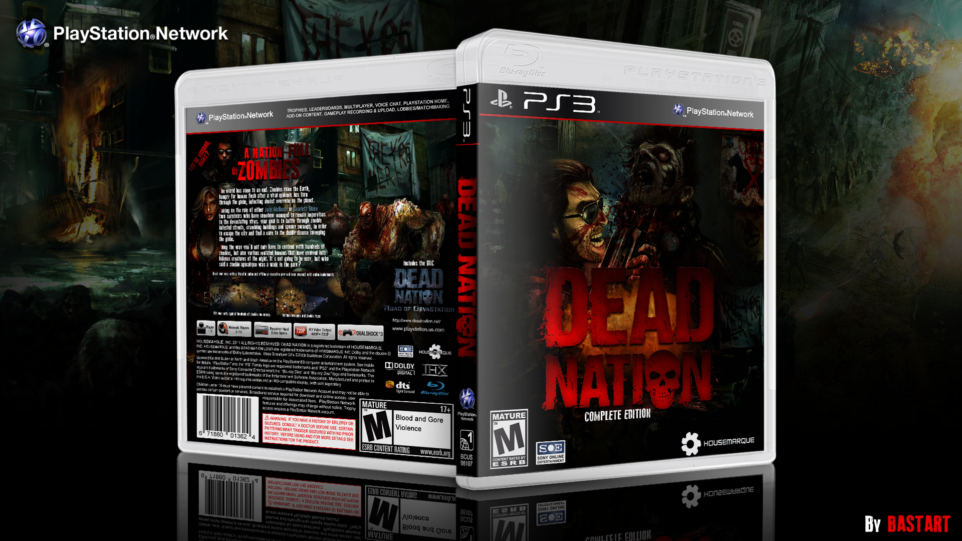 Dead Nation Playstation 3 Box Art Cover By Bastart