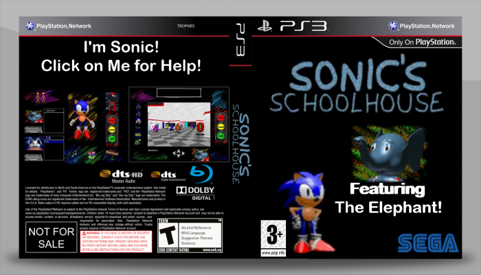 Sonic's Schoolhouse box art cover
