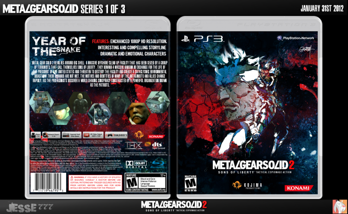 Metal Gear Solid 2: Sons of Liberty box cover