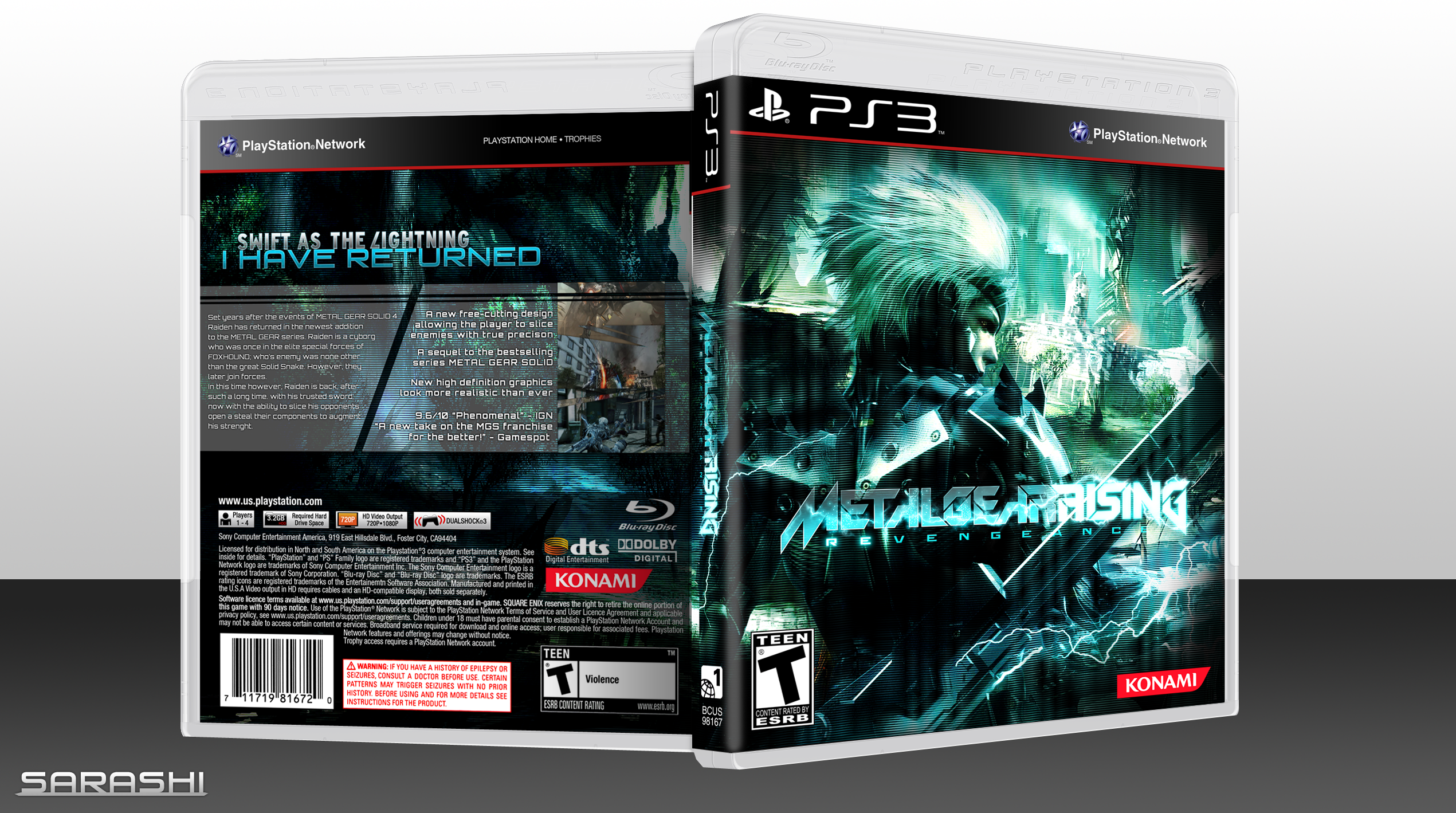 PlayStation 3   187  Metal Gear Rising  Revengeance Box CoverMetal Gear Rising Revengeance Cover Ps3