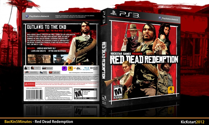 Capa red dead redemption game of the year edition ps3 - capas de