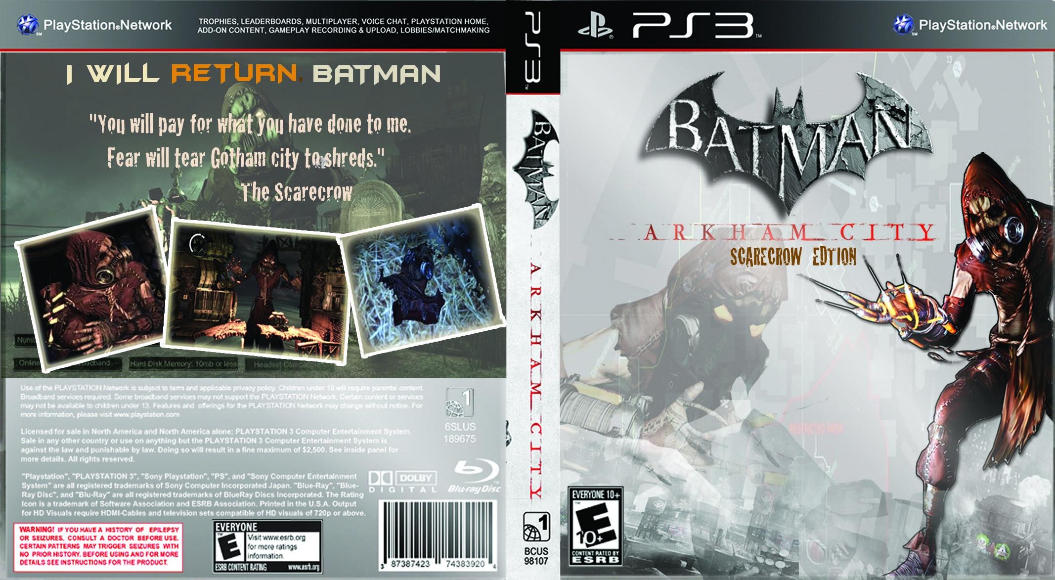 batman arkham city scarecrow edition playstation 3 box art cover by