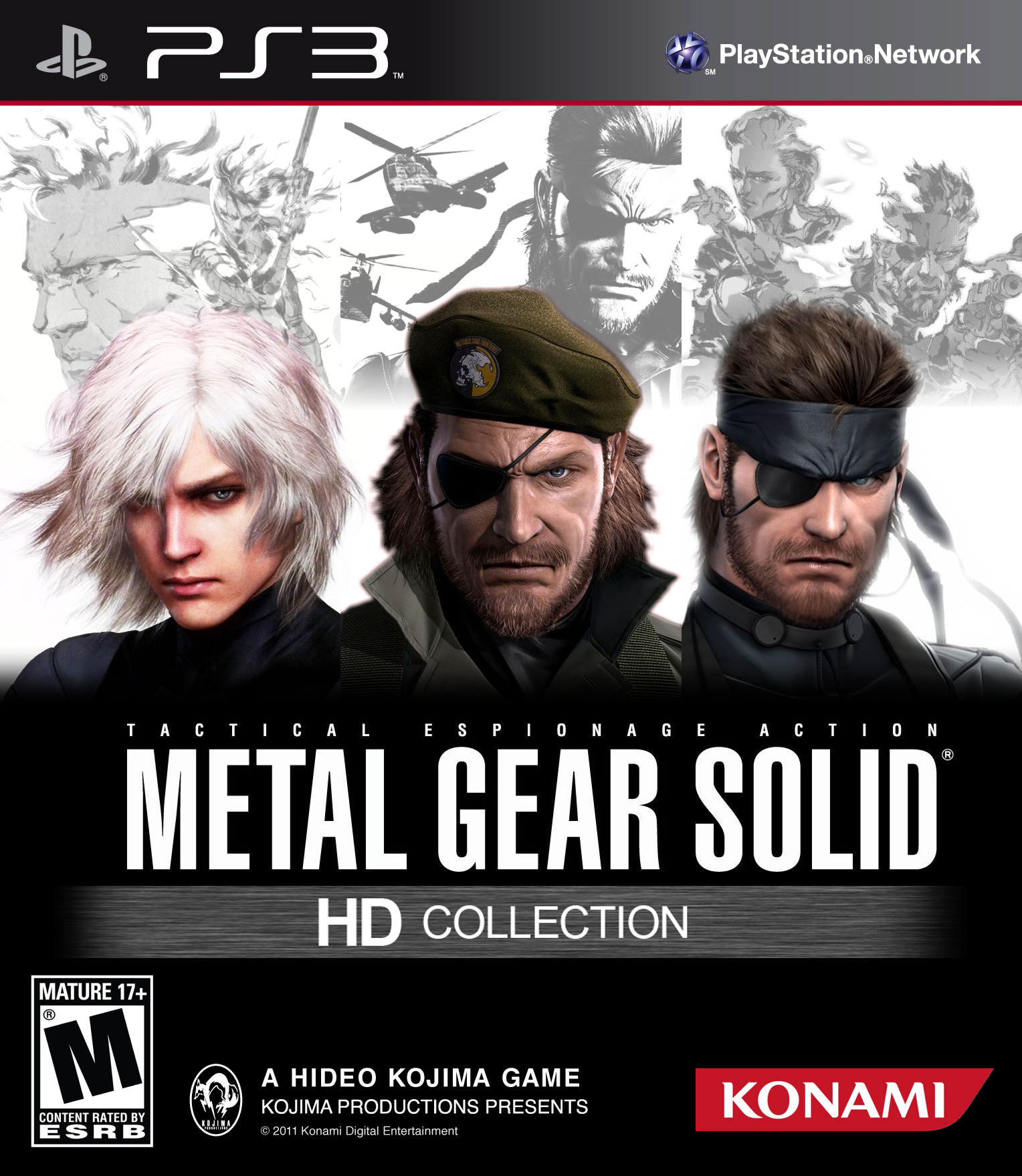 Metal Gear Solid HD Collection PlayStation 3 Box Art Cover