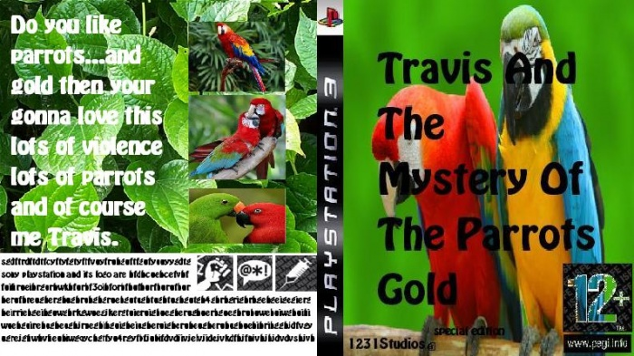 Travis And The Mystery Of The Parrots Gold box art cover