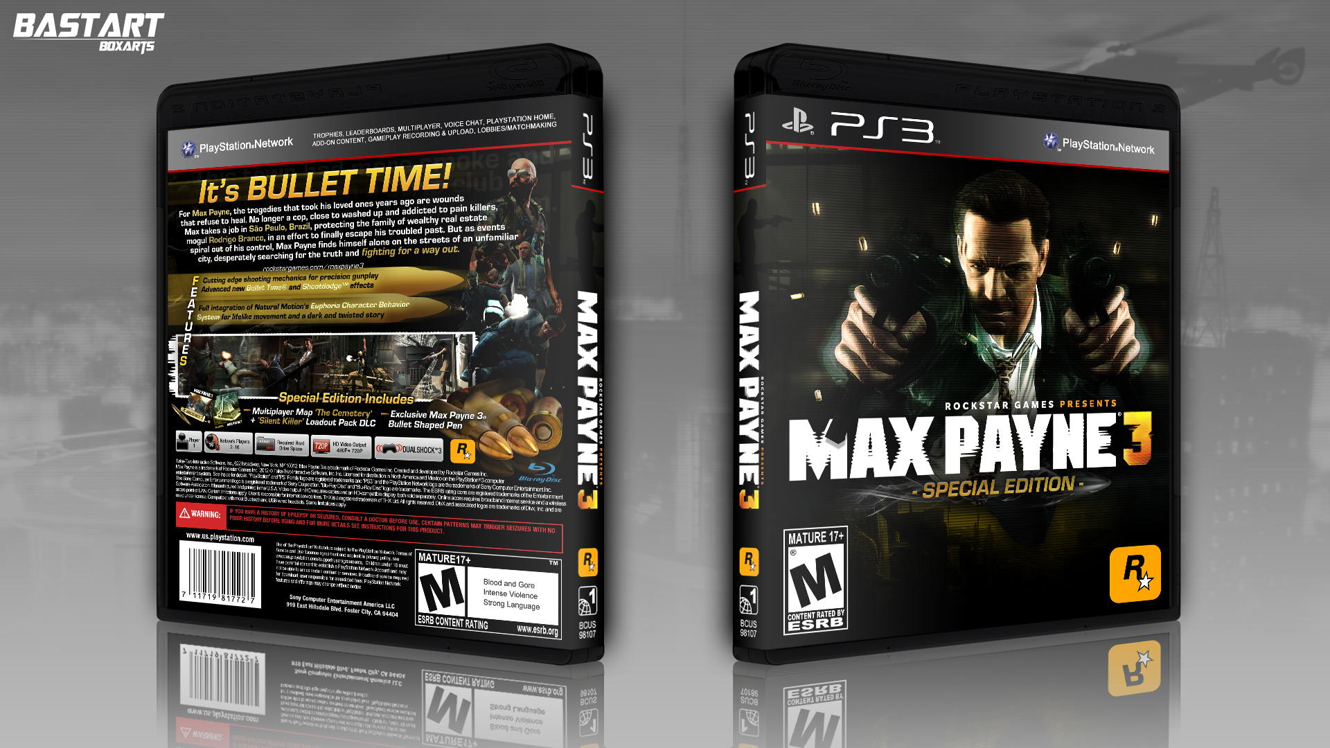 Viewing Full Size Max Payne 3 Special Edition Box Cover