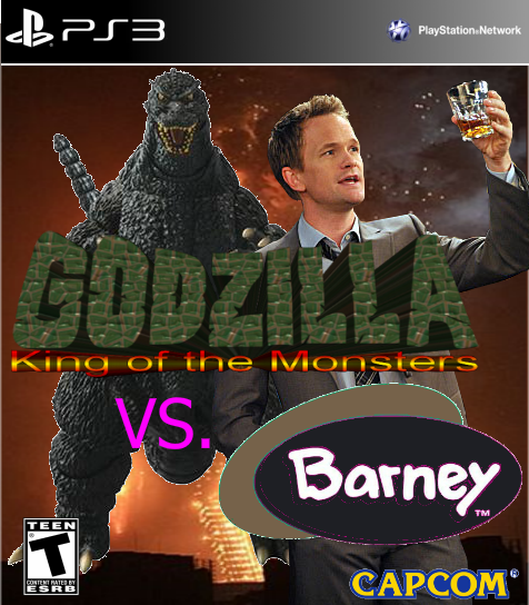 Godzilla VS. Barney box cover