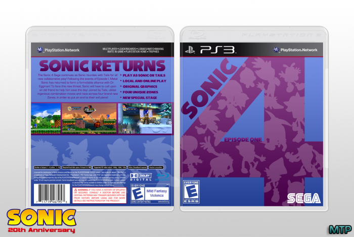 Sonic The Hedgehog 4: Episode 1 box art cover