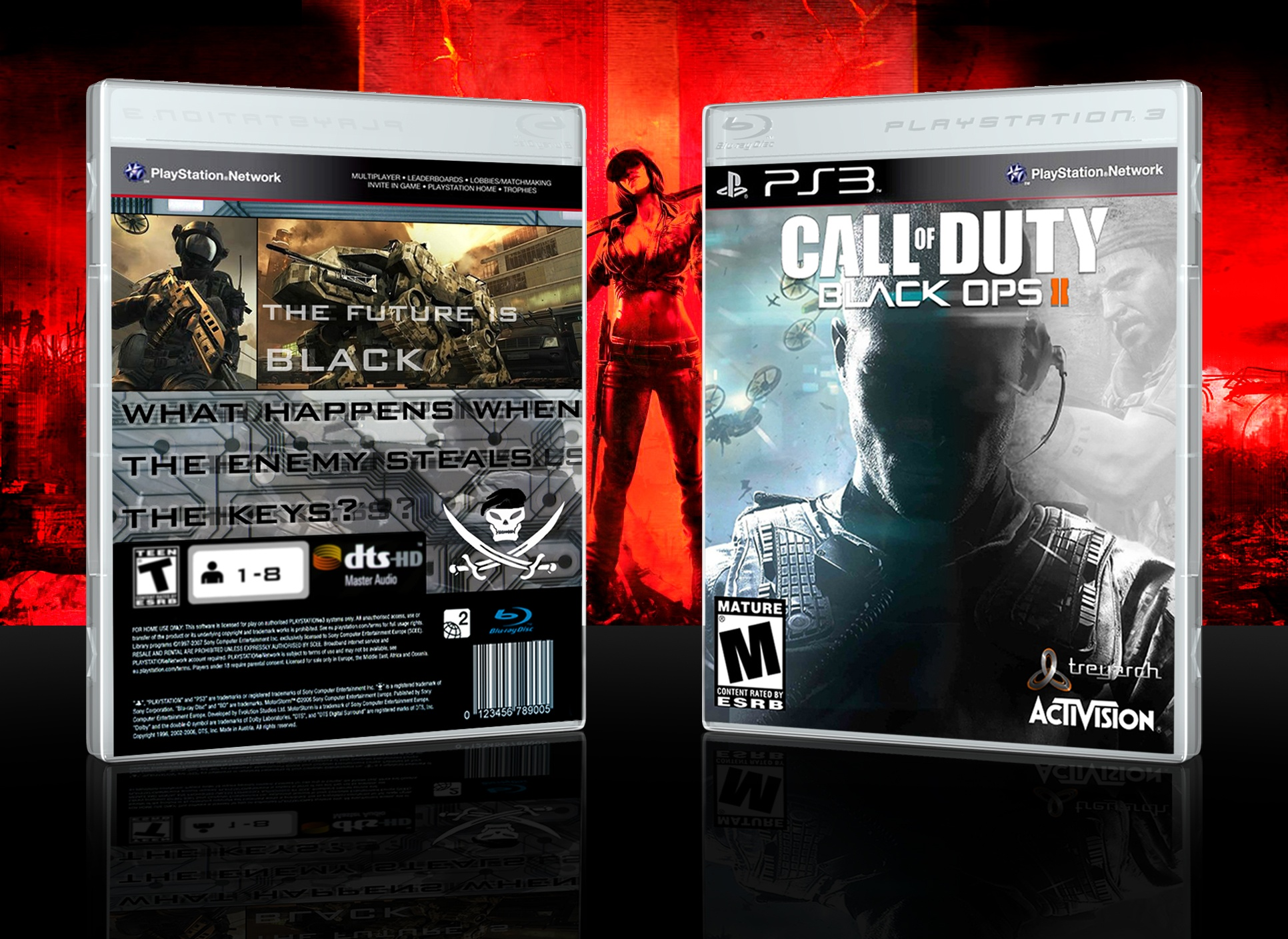 Call Of Duty Black Ops Ii Playstation 3 Box Art Cover By Cazecoverzz