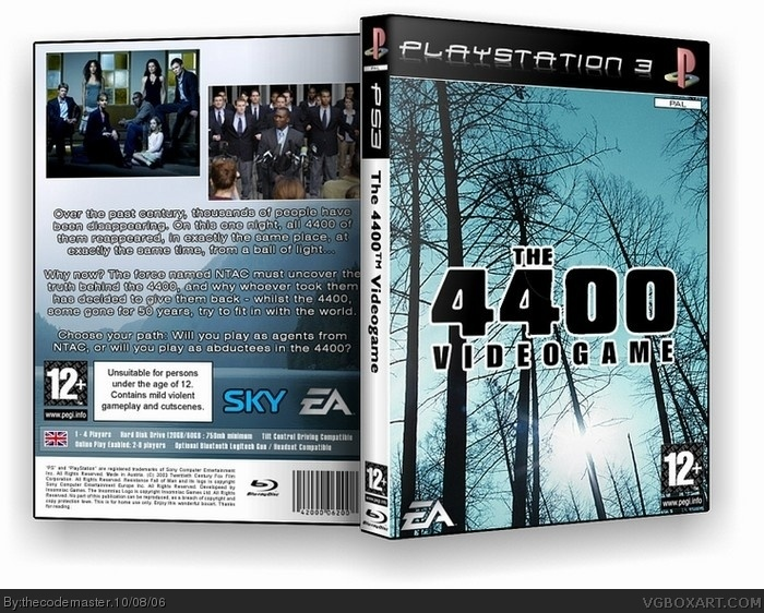 The 4400 Videogame box art cover