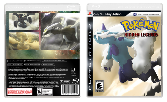 Pokémon Hidden legends box art cover