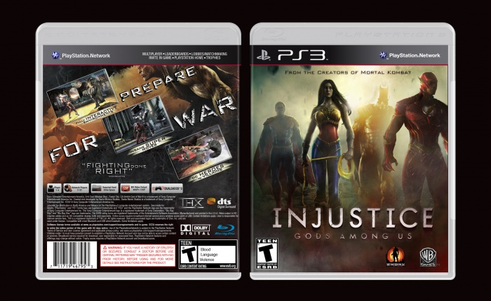 Injustice: Gods Among Us box art cover