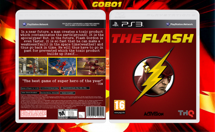 Flash Games For Ps3 : The flash playstation box art cover by gobo