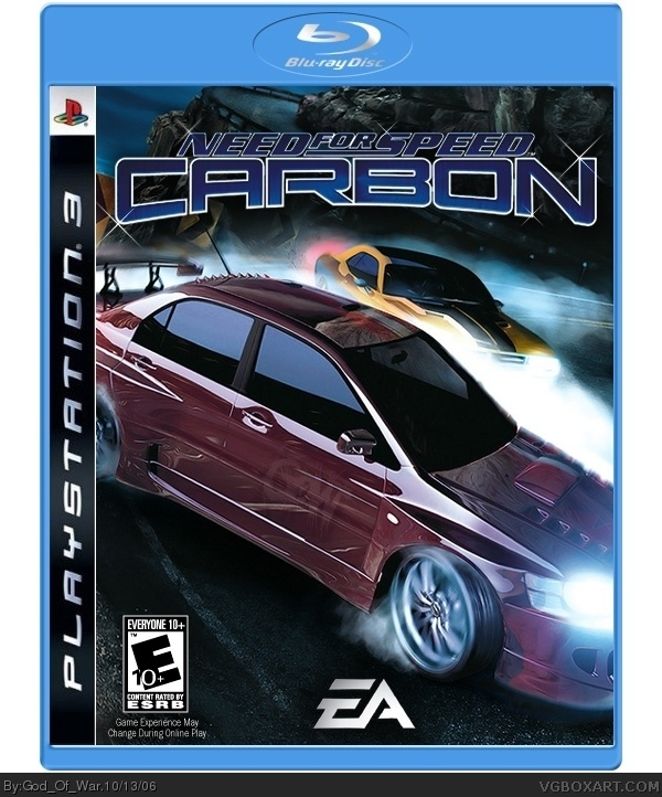 Need For Speed Carbon PlayStation 3 Box Art Cover by God_Of_War